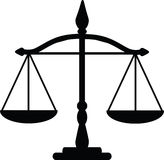 Justice scales. Vector illustration of justice scales Stock Images