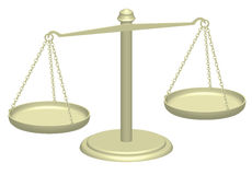 Justice scales. 3d illustration of justice scales Royalty Free Stock Photos