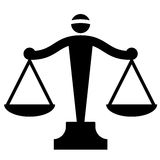 Justice scales. Vector illustration of justice scales Stock Photography