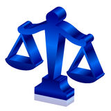 Justice scales. Vector 3d icon of justice scales Royalty Free Stock Photos
