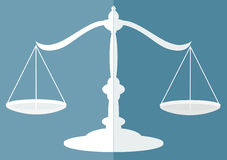 Justice scales. Flat modern design Royalty Free Stock Photography