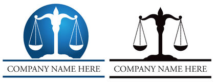 Justice Scales Logo Royalty Free Stock Photography