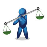 Justice Scales. People Icon Stock Photos