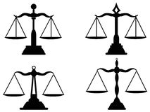 Justice scales silhouette Royalty Free Stock Photos