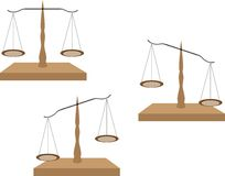 Justice scales. Vector set of various colored justice scales Royalty Free Stock Photo