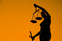 Justice sculpture. Royalty Free Stock Images