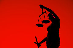 Justice sculpture. Royalty Free Stock Image