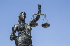 Justice Sculpture. The Statue of Lady Justice Stock Photo