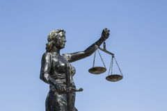 Justice Sculpture. The Statue of Lady Justice Stock Photos