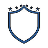 Justice shield with stars  icon Royalty Free Stock Photo