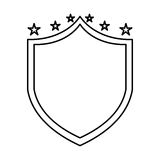 Justice shield with stars isolated icon Royalty Free Stock Photo