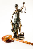 Justice statue. Law and justice concept in studio Stock Photos