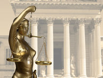 Justice statue Royalty Free Stock Image