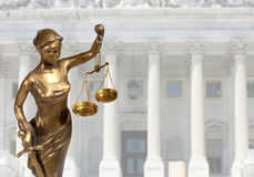 Justice statue Royalty Free Stock Photos
