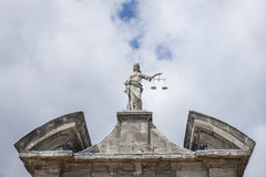 Justice Statue in Dublin Royalty Free Stock Image