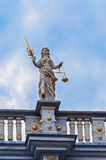 Justice statue in Gdansk, Poland Stock Image