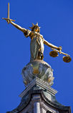 Κυρία Justice Statue ontop του Old Bailey στο Λονδίνο Στοκ Εικόνες