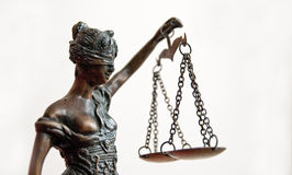 Justice - statue of Temida Royalty Free Stock Images