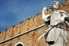 Justice statue at Venice naval dockyard Stock Image