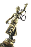Justice Statue on white. Lawyer background Stock Photography