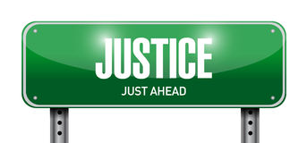 justice street sign illustration design Royalty Free Stock Photo