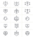 Justice Symbols Set Stock Photos
