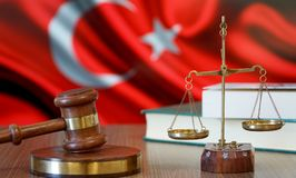 Justice for Turkey Laws in Turkish Court. Turkey Flag stock photos