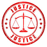 Justice vector stamp Stock Image