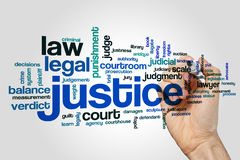 Justice word cloud Stock Image