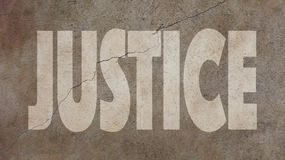 Justice Written on Concrete Royalty Free Stock Photos