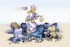 justicia stock de ilustración