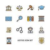 Justicia Color Icon Set Vector Imagen de archivo libre de regalías