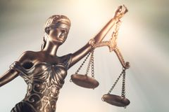 Justicia de la estatua foto de archivo libre de regalías