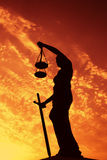 Justicia de la señora Imagen de archivo