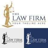 Justicia de la señora del bufete de abogados del logotipo libre illustration