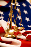 Justicia en los E.E.U.U. Imágenes de archivo libres de regalías