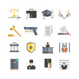 Justicia Icons Set Fotografía de archivo libre de regalías