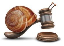 Justicia lenta stock de ilustración