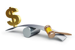 Justicia o dinero ilustración del vector