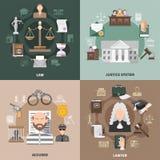 Justicia pública Design Concept ilustración del vector
