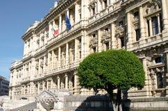 Justicia Palace en la plaza Cavour Imagenes de archivo