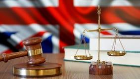 Justicia para las leyes de Gran Bretaña en corte británica foto de archivo