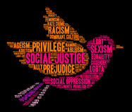 Justicia social Word Cloud Imagenes de archivo