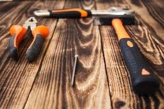 Justierbarer Schlüssel des Zangenhammernagels Lizenzfreies Stockbild