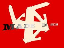 Justierte Schweizer Flagge Stockfoto