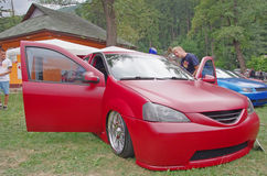 Justiertes Dacia Logan Stockfotografie