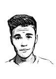 Justin Bieber ilustração stock