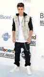 Justin Bieber chega nas concessões 2012 do quadro de avisos fotos de stock