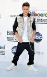 Justin Bieber chega nas concessões 2012 do quadro de avisos Imagem de Stock