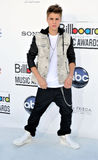 Justin Bieber komt bij de Toekenning van het Aanplakbord van 2012 aan Stock Afbeelding